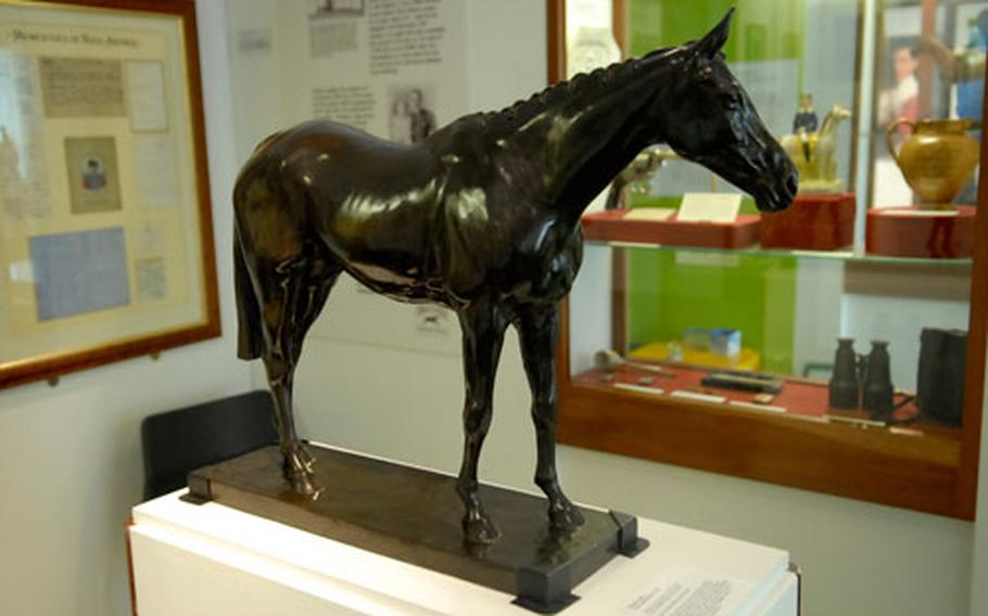 A bevy of bronze statues commemorating specific races, jockeys, horses and stakes abound at the museum. Many of the works, including paintings, were commissioned by race horse owners.
