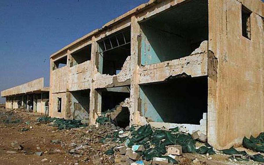Haditha's soccer stadium is in a state of disrepair.