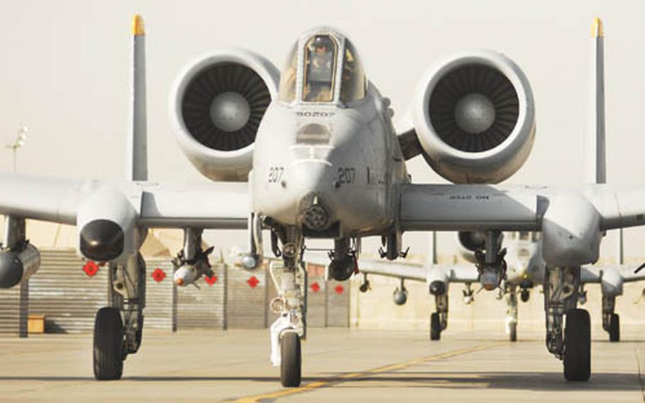 The 81st Fighter Squadron's A-10As, like the one pictured above on deployment in Afghanistan this spring, are being upgraded to A-10Cs. The new variant can carry precision weapons, such as the Joint Direct Attack Munition.