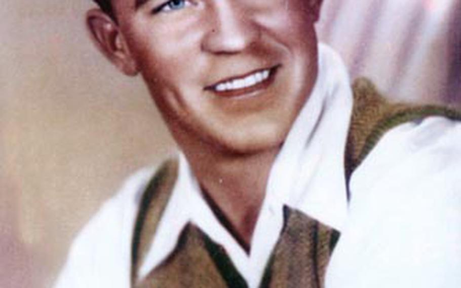 """A 1943 college portrait of WH """"Dub"""" Jackson during his freshman year at Hardin-Simmons College in Abilene, Texas."""