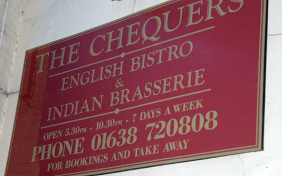 The Chequers is located at 58-62 Carter St. Fordham CB7 5JT. Telephone: 01638 720808