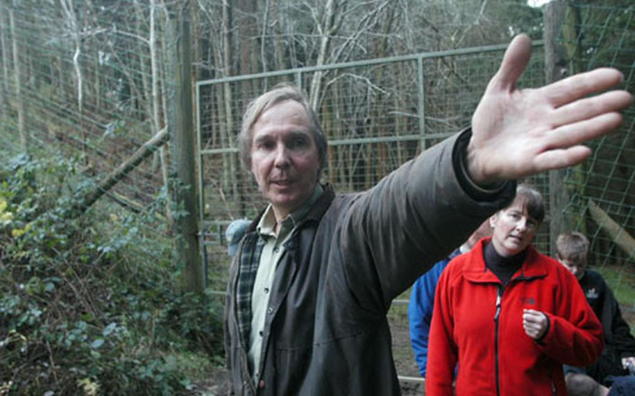 Tony Highway explains the lay of the land at the 85-acre refuge in north England.