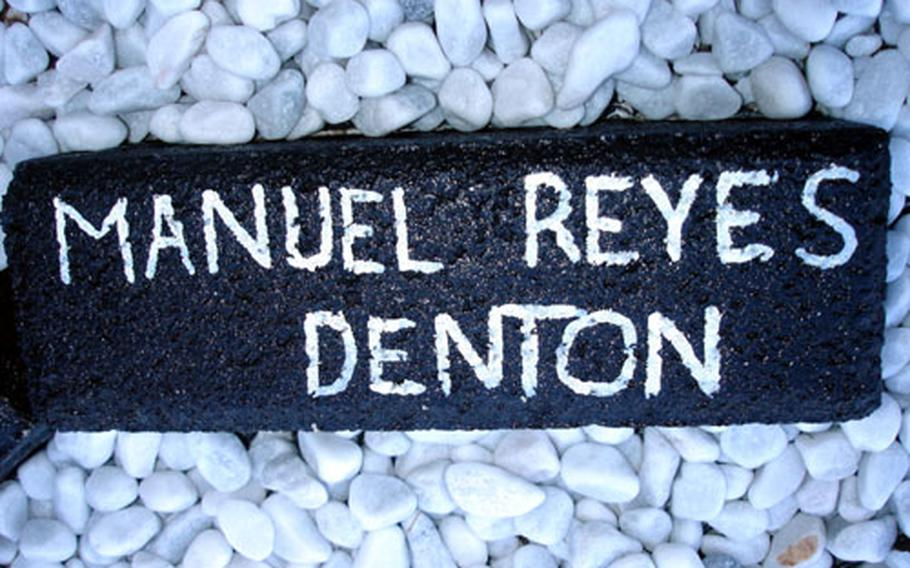 The memorial includes bricks with the names of medical Medal of Honor recipients and medical personnel listed as missing in action, including Manuel Reyes Denton, whose remains were found in August. He is believed to have died in a helicopter crash in Vietnam in 1963.