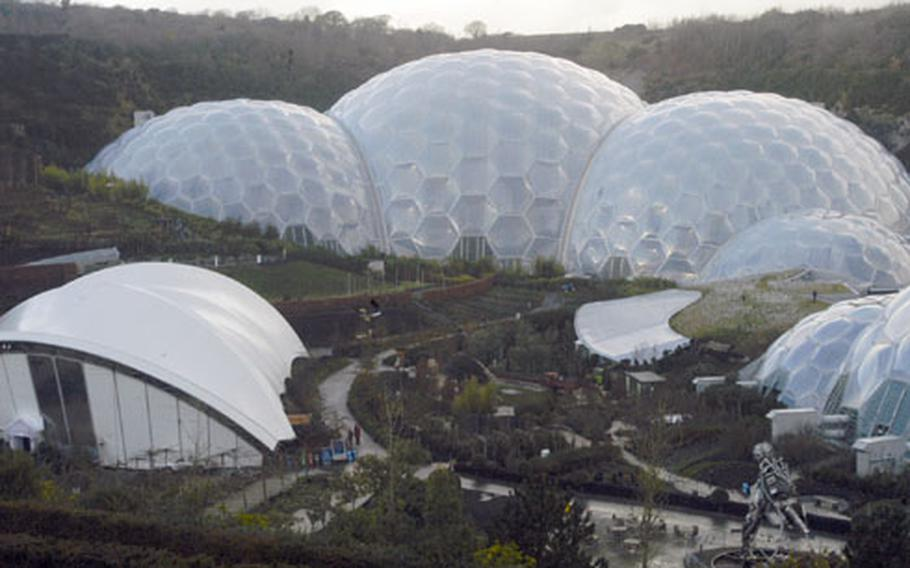"""The Eden Project is one of the coastal region's biggest attractions, drawing about 1 million visitors a year to its forested """"Biomes."""""""