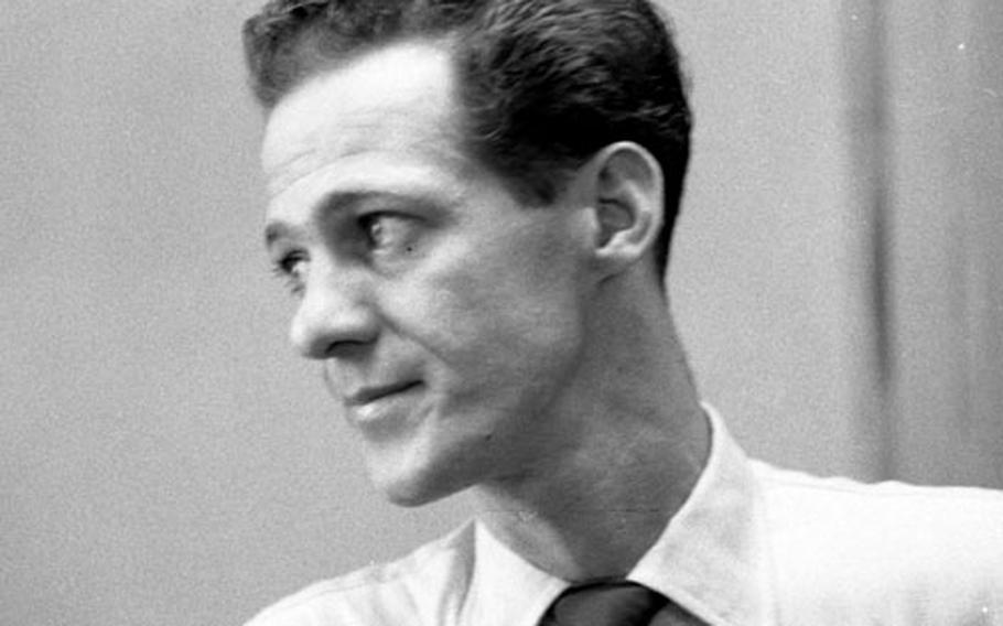 Sandy Colton at Stars and Stripes in Tokyo in 1956.