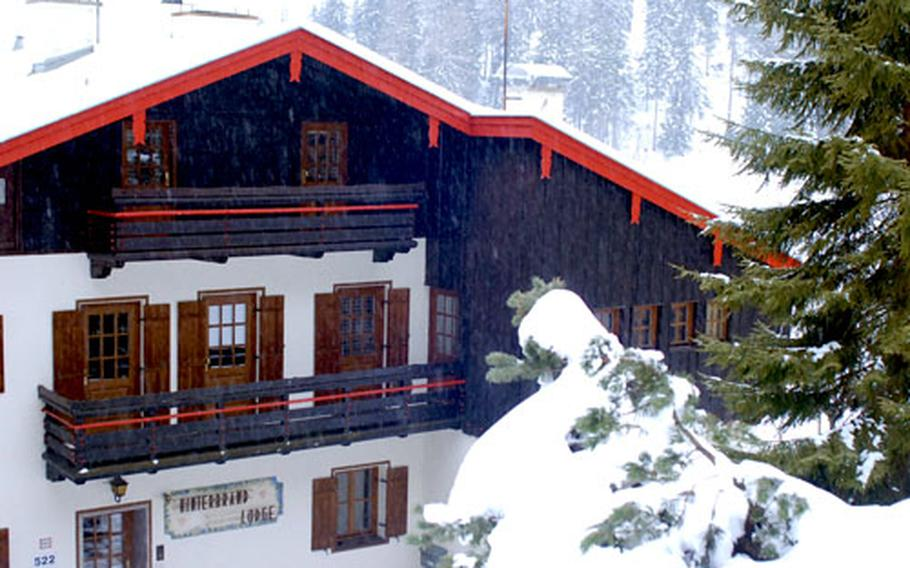 Hinterbrand Lodge in Berchtesgaden, Germany, is a popular weekend destination for U.S. personnel stationed in Europe.