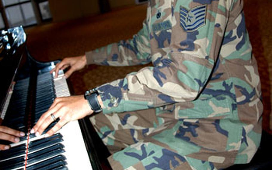Tech. Sgt. Lamon L. Mabron, 29, of Misawa Air Base, Japan, had to commit about 70 songs to memory as keyboardist for the 2008 Tops in Blue team. The airman is one of two military members from Pacific Air Forces to make this year's team of traveling entertainers, who are touring the Asia-Pacific region now.
