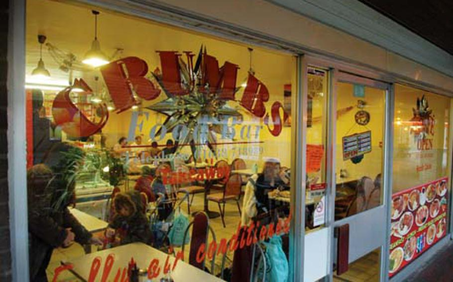 Crumb's Food Bar offers a cheap and quick lunch option near RAF Mildenhall.