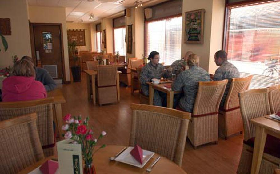 En-Thai-Sing in Mildenhall village is a popular dining option for airmen and local Brits alike.