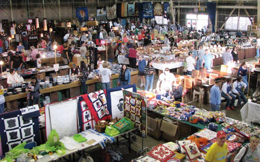 Members of the Misawa Air Base community shop at the October 2008 Far East Bazaar, hosted by the Misawa Officers' Spouses' Club.
