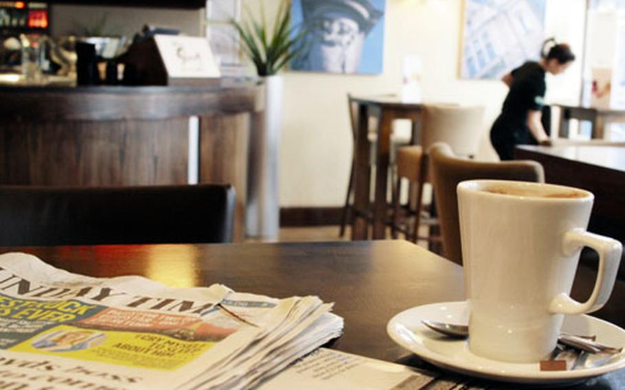 The Slug and Lettuce is a nice place to unwind with a newspaper and latte on a Sunday morning. The chain pub-restaurant has great food and drink specials.