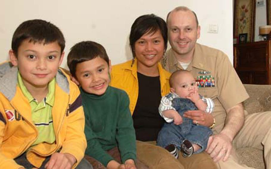 From left,the Eckles family: Zackary, 8; Elijah, 5; Iris, 38; Isaiah; and Richard, 39.