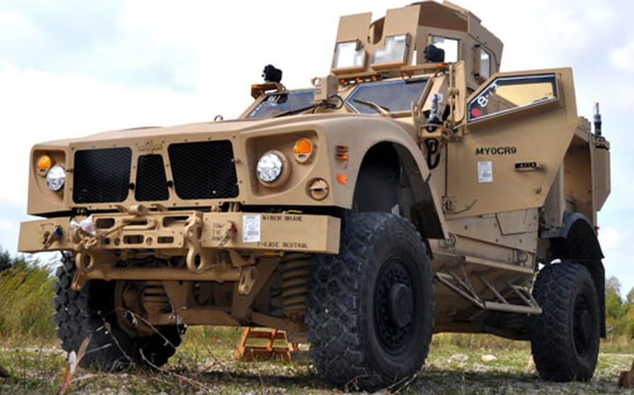 The M-ATV is smaller, faster, and more agile than the previous version of the Mine-Resistant Ambush Protected Vehicle.