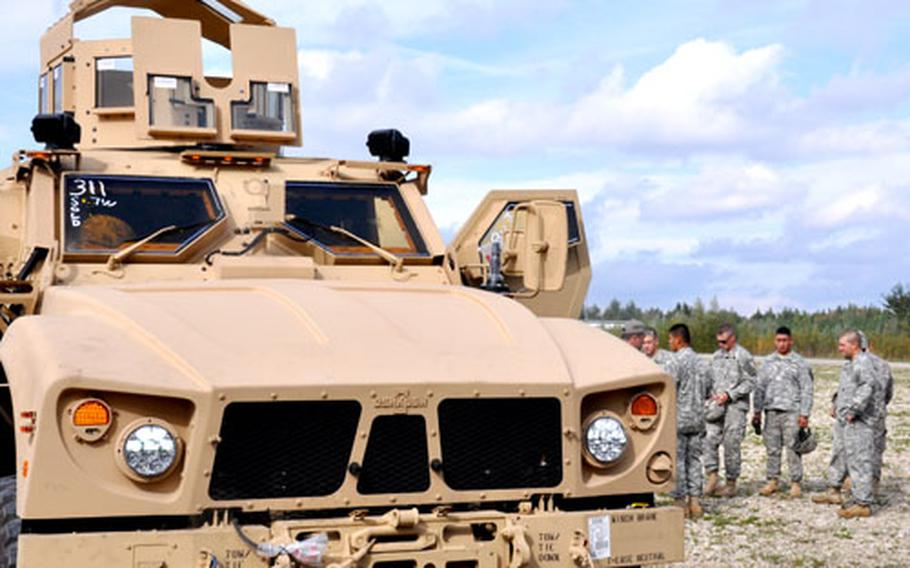 Ten MRAP All-Terrain Vehicles were sent to Bamberg, Germany, where troops will train on the vehicle before deploying to Afghanistan later this year.