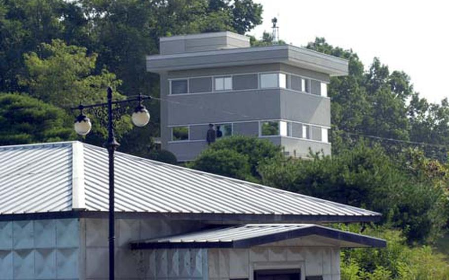 This is one of four new guard posts built last year on the North Korea side of the Demilitarized Zone, which replaced older and less-impressive buildings. Renovations are now under way on the South Korea side of the Joint Security Area on three guard posts and two checkpoint buildings.