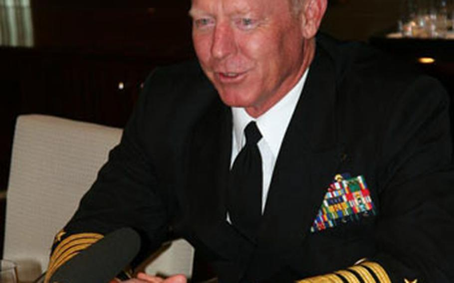 """Adm. Robert Willard, the new Pacific Command chief, said one of his primary missions will be to expand U.S. relations with China. """"The more that we can engage collectively as a region with China and understand their intentions and develop relationships with them, I think, the better,"""" he said during a visit to Seoul, South Korea. He later added: """"China is not our enemy."""""""
