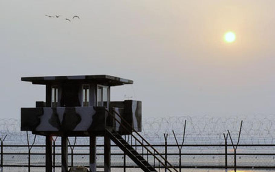 Birds take flight over the Imjin River in Korea's Demilitarized Zone, which has become a nature preserve of sorts thanks to the fact it has been left relatively untouched by man for more than 55 years.
