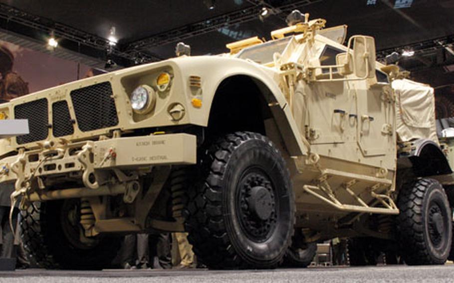 An MRAP-All Terrain Vehicle, on display in Washington, D.C., last year.