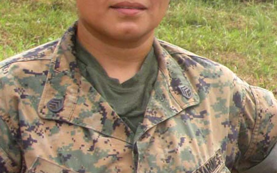 Marine Corps Staff Sgt. Veronica Soto, one of three female NCOs who spent time in Liberia mentoring troops with the Armed Forces of Liberia.