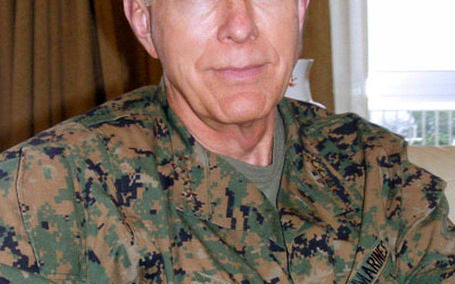 Gen. James T. Conway, Commandant of the Marine Corps, says Marine air operations need to remain on Okinawa.