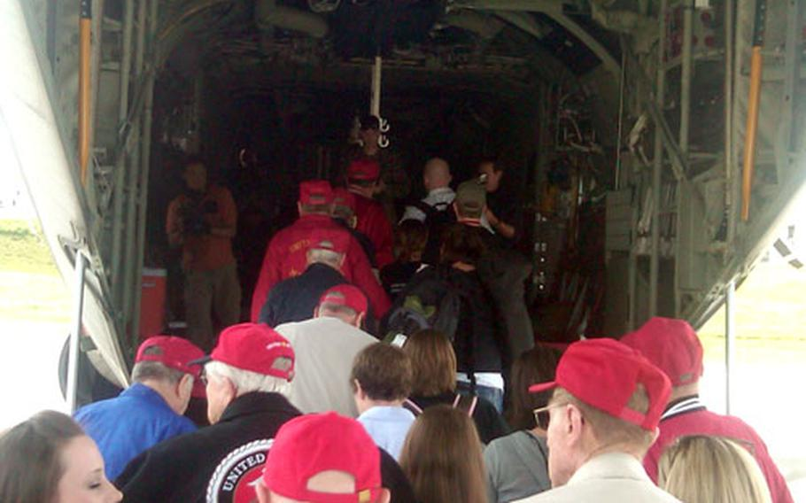 After all the delays, the veterans are finally on their way.