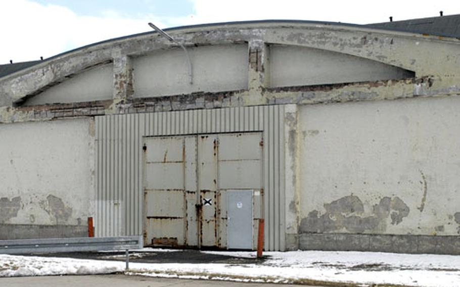 Building 6217 at McCully Barracks in Wackernheim, Germany, is slated for renovation, but barn owls have decided to call the building their home. Engineers are planning to construct a barn owl box near the building hoping the owls will move to the box so renovations can begin.