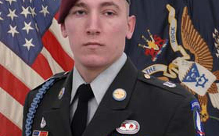 Courtesy U.S. Army Pfc. Nicholas Cook was killed in action on March 7, 2010, in Dab Sar, Konar Province, Afghanistan.