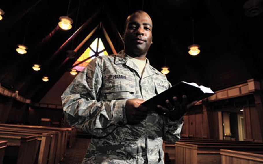 U.S. Air Force Capt. Herman Harris is a chaplain at Joint Base Charleston, S.C. While the Air Force is reducing its number of chaplains, the Army is boosting its number of chaplains and the Navy expects its current number of chaplains to increase.