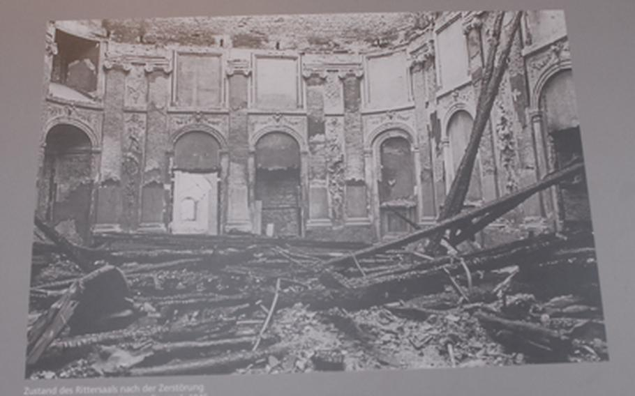The Mannheim palace, like nearly everything in the city center, was destroyed by Allied bombers in World War II. It was painstakingly reconstructed.