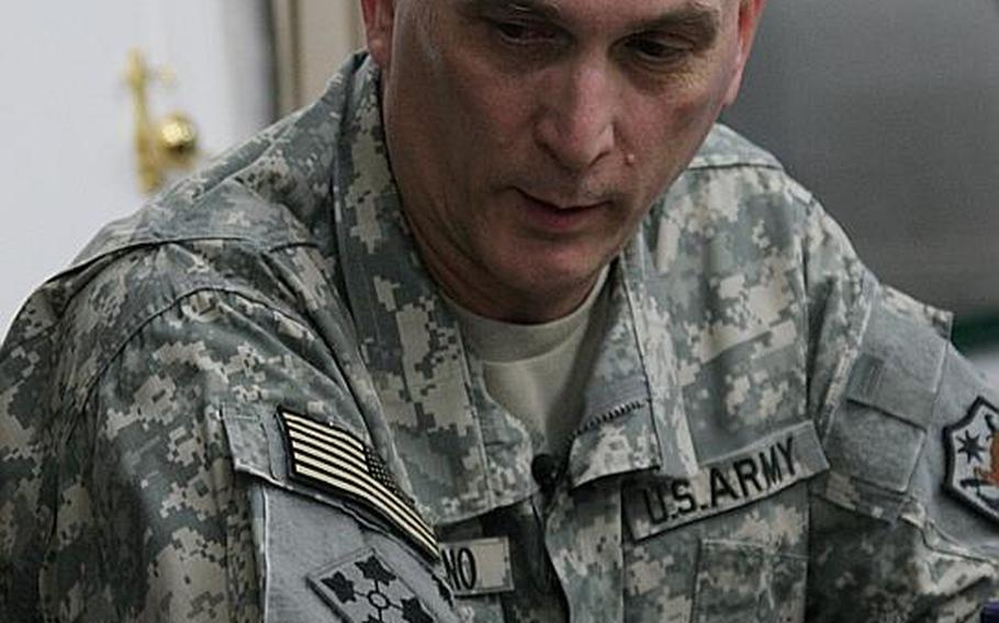 Gen. Ray Odierno meets with reporters in his Baghdad office at Camp Victory last summer. Odierno was formally nominated Monday as the next commander of U.S. Joint Forces Command.