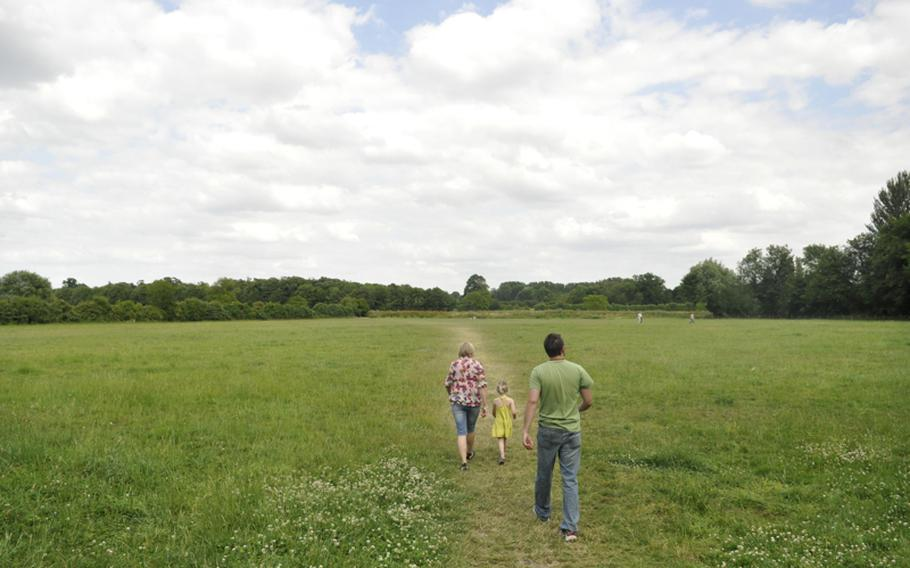 The Orchard at Grantchester, England, is a charming place for a day out. It abuts a wide-open green that's perfect for a summertime stroll.