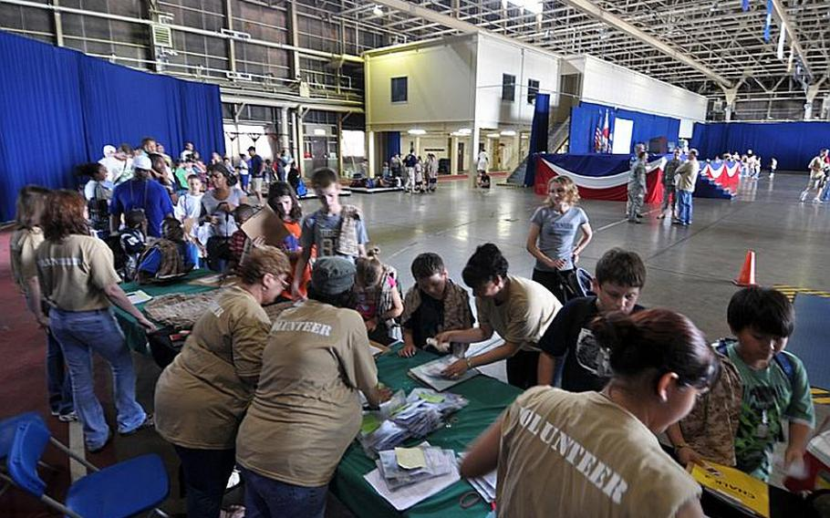 Nearly 200 youth at Misawa Air Base, Japan, took part in Saturday's Operation CODE, a mock-deployment exercise to give them a better idea of what their parents go through while deploying.