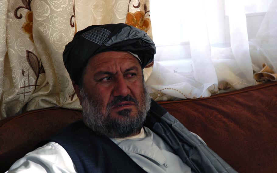 Haji Shah Mohammad, Arghandab District governor in the Kandahar Province of southern Afghanistan.