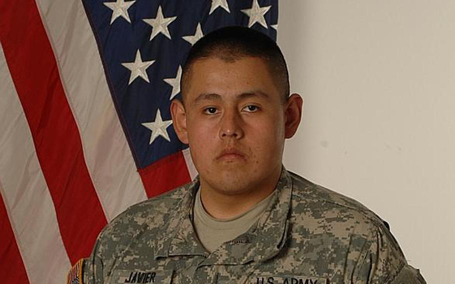 Pfc. Conrado D. Javier, 19, of Marina, Calif., died from wounds suffered when his vehicle hit a roadside bomb in Kandahar province, Afghanistan, according to a Defense Department release.