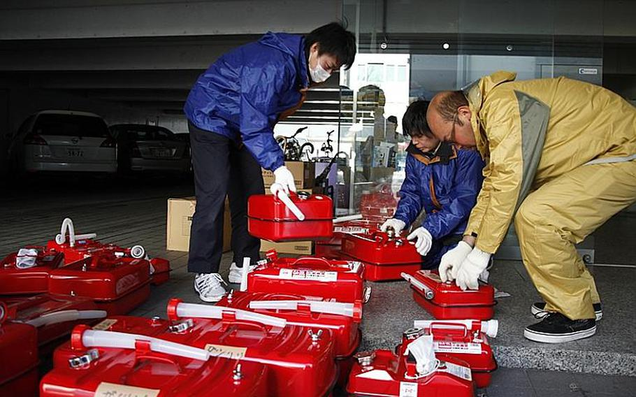 """Five days after a massive earthquake and tsunami devastated the northern Japanese city of Sendai, gas shortages continue to cripple relief efforts. U.S. Marines from Okinawa have set up a """"forward fuel point"""" in nearby Yamagata, but the people are struggling."""