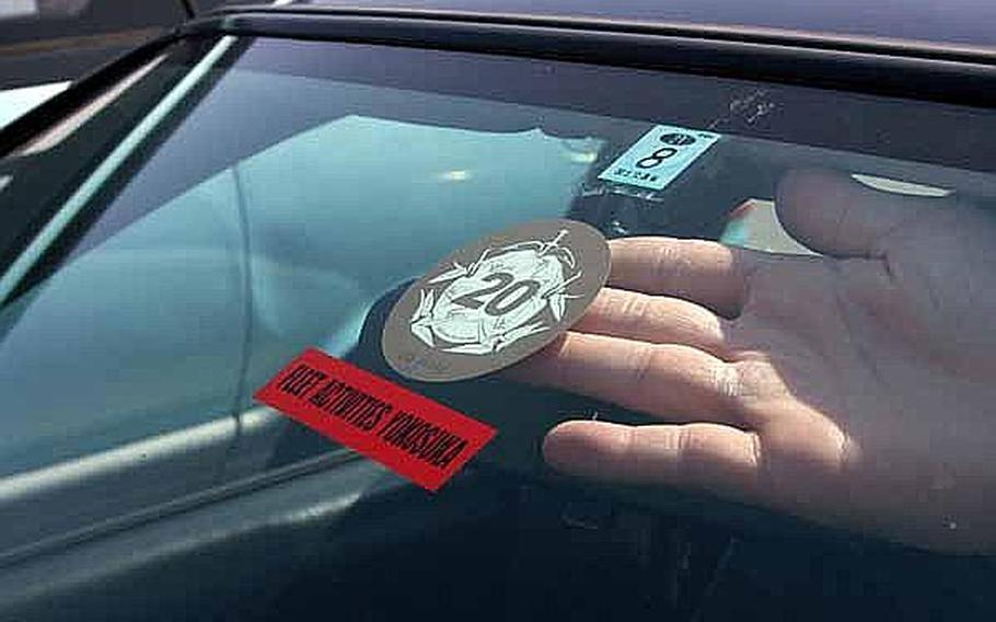 U.S. bases in Japan have scheduled dates and times in April for residents to be able to pay the annual Japanese road tax on base. Vehicle registration offices will issue a decal with proof of payment and other required documents.