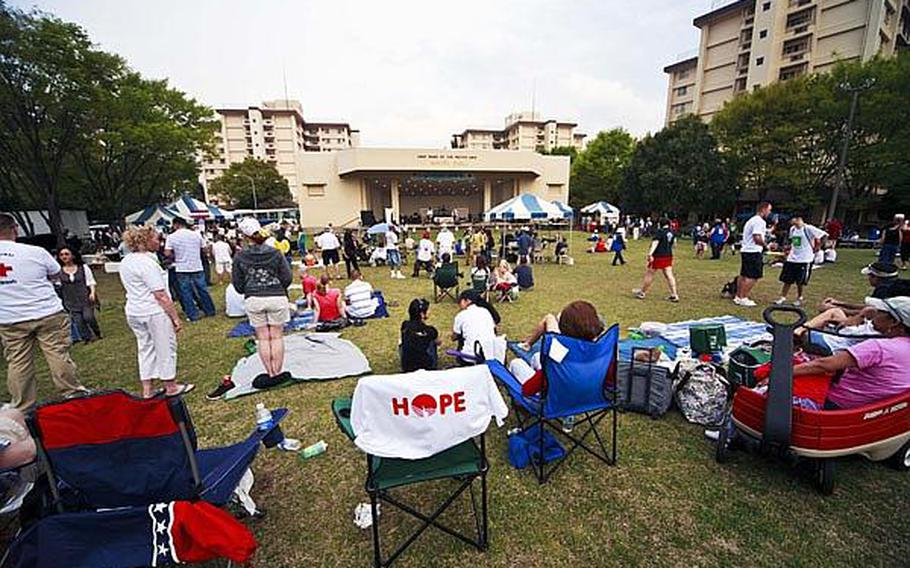 It was the perfect day for a concert as music fans flocked to the Sakura Shell on Yokota Air Base Saturday for 'Tomodachi Stock,' a free concert held to raise money through concessions and Red Cross donations for the tsunami victims in northern Japan.