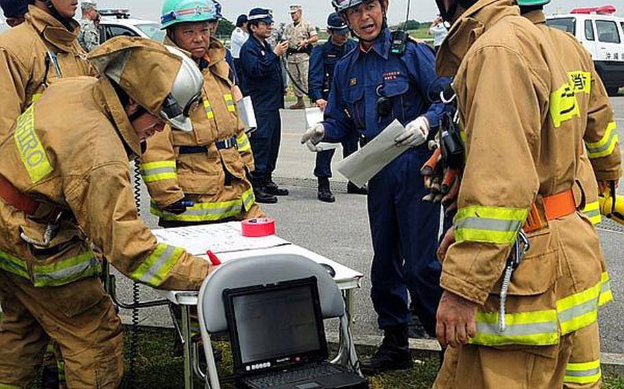 A temporary command post was set up to facilitate communication and information between the U.S. military and the Japanese Emergency Response Teams during an annual bilateral training exercise that involved a scenario in which an aircraft crashed into an urban environment.