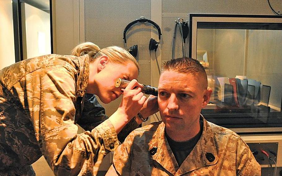 Marine Gunnery Sgt. Ben Coleman bluffed his way through his post-deployment hearing exams. It wasn't until three years later he revealed to doctors and audiologists there that he could no longer hear out of his left ear.