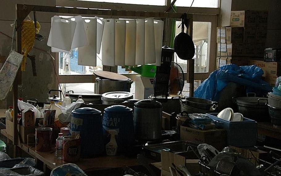 Relief supplies are still be stored at Watanoha Elementary School, almost six months after the first tsunami evacuees came there.