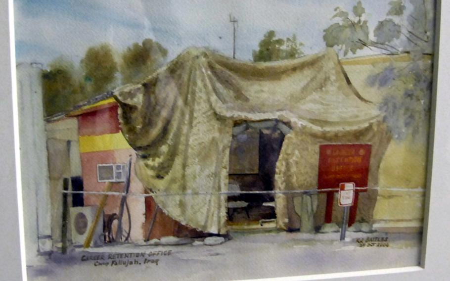 The finished product: Career retention office, Camp Fallujah, Iraq, by Staff Sgt. Kristopher Battles.