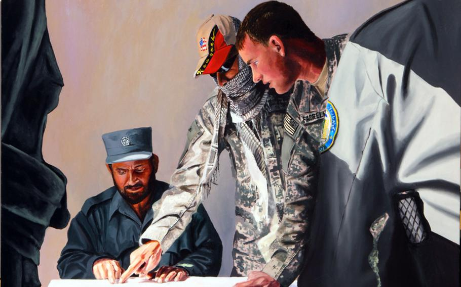 ''A Huge Responsibility,'' Afghanistan, 2009, by Army Master Sgt. Martin Cervantez.