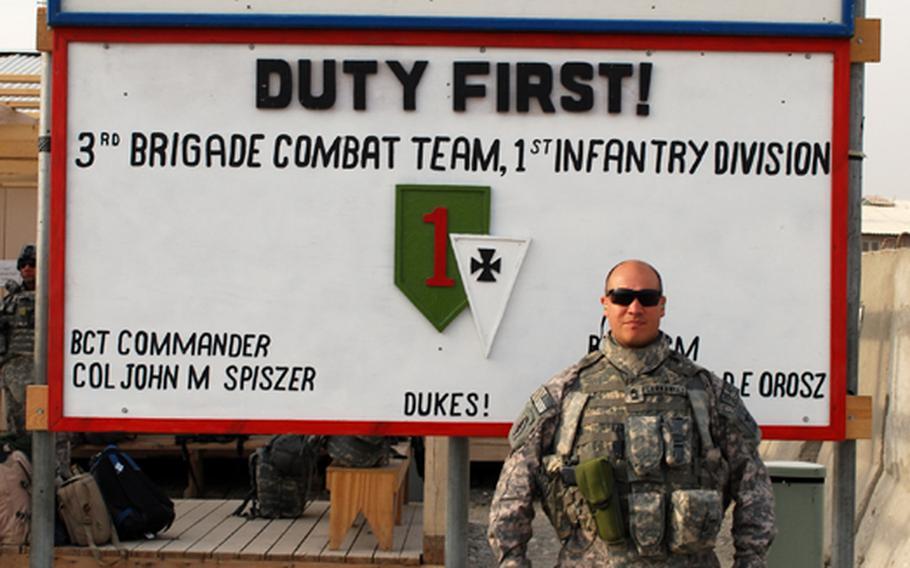 Army Master Sgt. Martin Cervantez, combat artist.