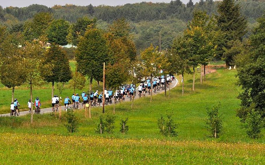 On Sunday, more than 60 wounded vets from the wars in Iraq and Afghanistan, along with 250 civilians, pedaled their way along a 25-kilometer route in Saarland, Germany. The bike ride was sponsored by the Wounded Warrior Project, which sponsors similar rides in the States.