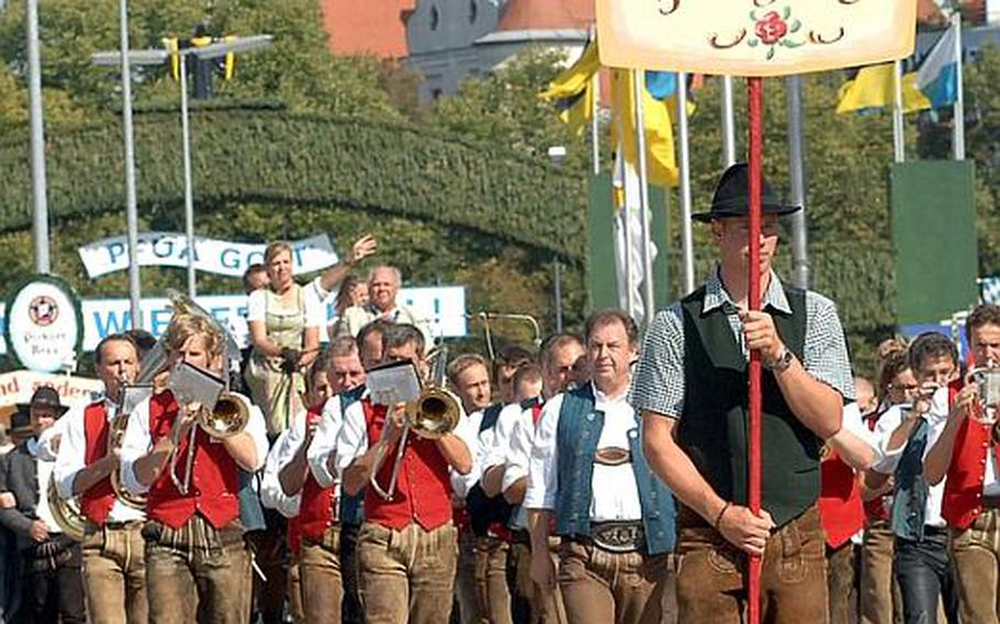 The parade of Oktoberfest ?landlords? (owners of the beer tents) and breweries on opening day events at Oktoberfest in Munich Saturday.