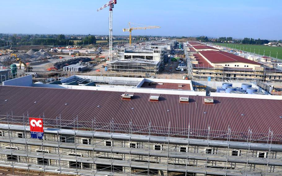 Construction is under way at the Dal Molin aifield in Vicenza, Italy, on 31 buildings that will eventually feature headquarters, offices, support facilities, housing and recreational areas for the 173rd Airborne Brigade Combat team and U.S. Army Africa.