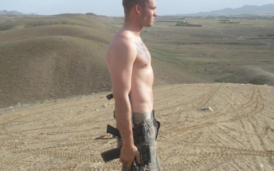 Former Army Spc. Jacob Andrews Andrews in a photo taken during his deployment to Afghanistan during 2009. Jacobs committed suicide in April shortly after he was kicked out of the Army amid a confluence of mental health issues and behavioral problems. Now, Maj. Andrew DeKever is campaigning for the service to issue Andrews, posthumously, a combat infantryman badge and a Purple Heart.