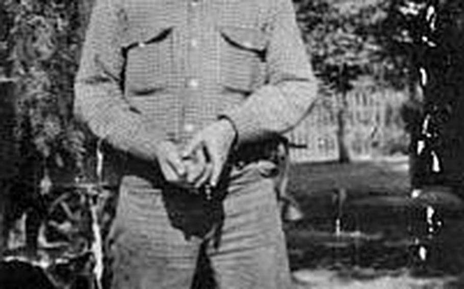 """Art Pratt ran pack mule teams for the U.S. Forest Service and was head wrangler at a California dude ranch before joining Morrison Knudsen Corp. as a mechanic on Wake Island. He hoped to buy a ranch of his own with the money he earned, according to his children. He died on Oct. 7, 1943 at the hands of the Japanese at the age of 41, one of the """"Wake 98."""""""