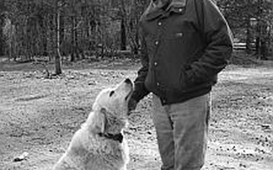 Terry Pratt, one of Art's children, seen here in 2008 with his dog Bear, said he joined the Army as a result of the loss of his father and served in Korea and Vietnam.