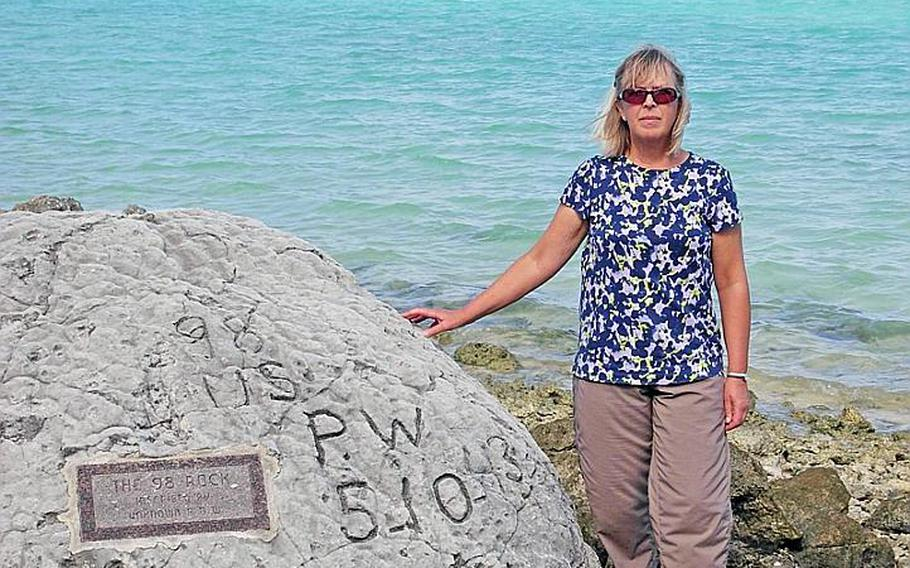 Bonnie Gilbert's father survived Wake Island, but that didn't stop her from crusading for those who lost loved ones. Seen here on a recent trip to Wake, Gilbert has researched those who perished tirelessly and has also tried to track down family members for DNA samples.
